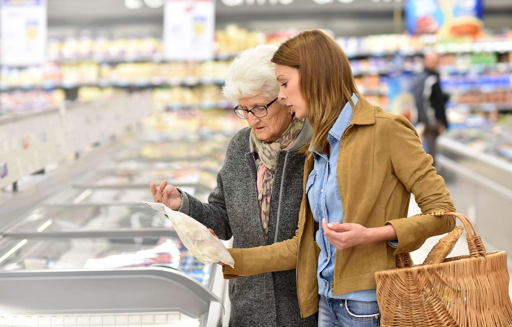 Hilfe beim Einkauf oder gemeinsames Einkaufen.